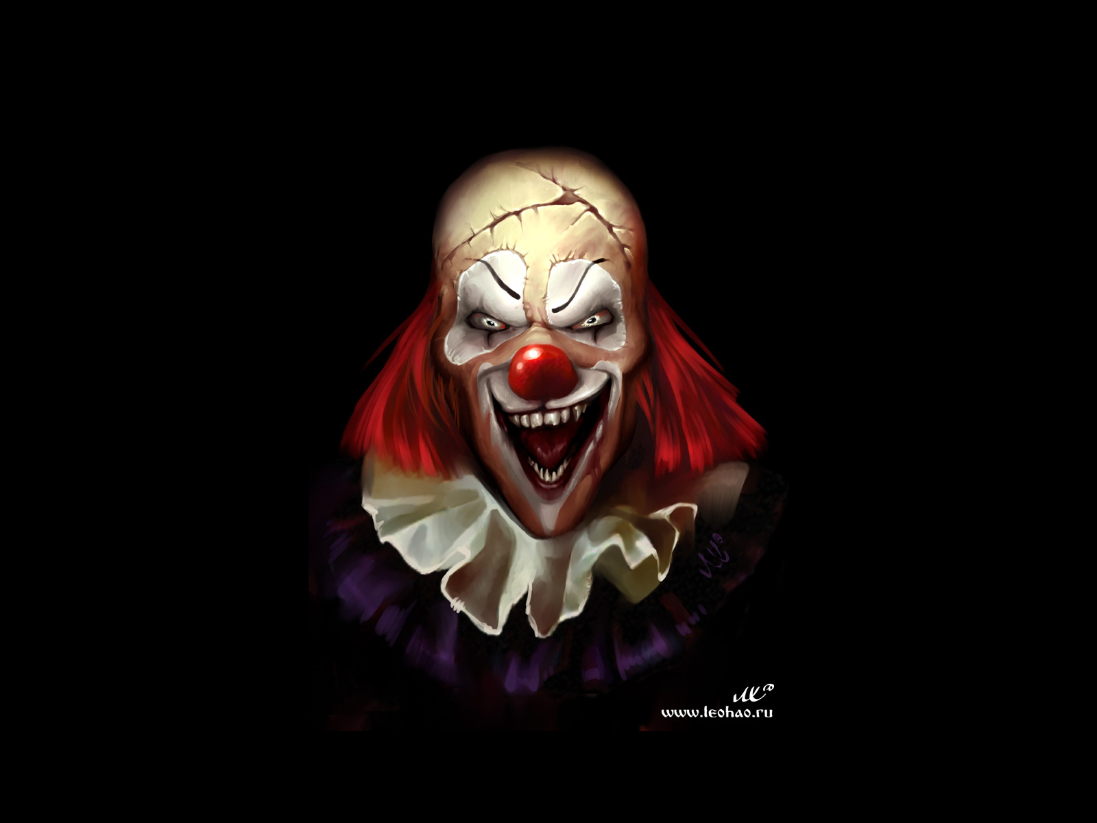 Evil Clown Wallpaper Clown wallpaper background 1600x1200