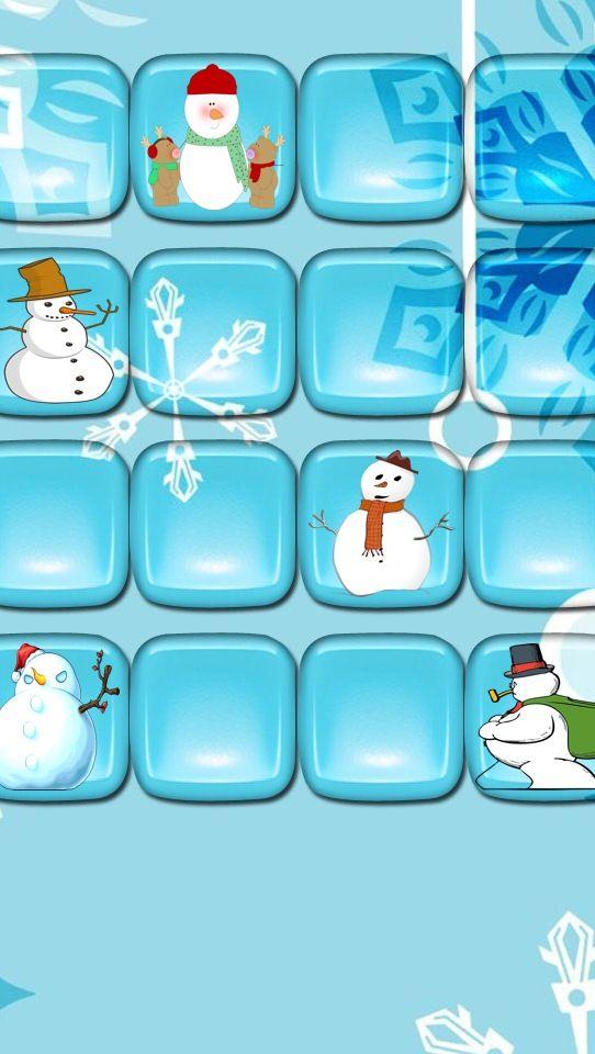 iPhone 5 wallpaper blue snowmen winter Tech Iphone wallpaper 542x960