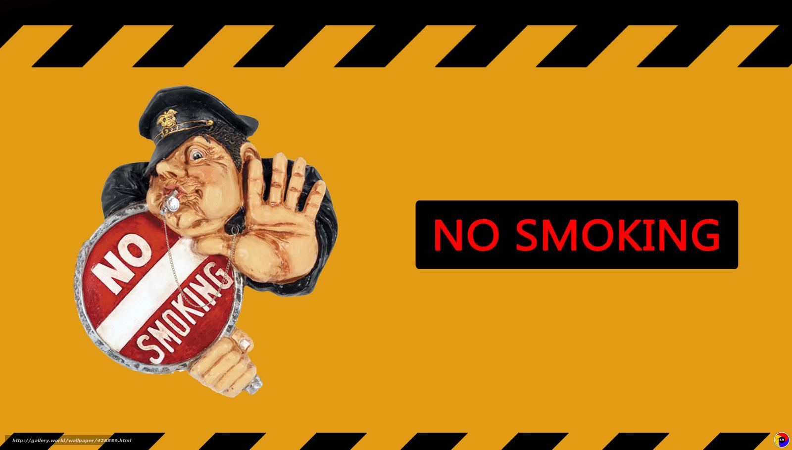 Download wallpaper no smoking no news yelow 1600x909