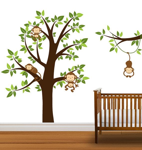 wwwetsycomlisting102157032tree decal monkeys nursery tree vinyl 570x602