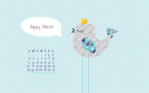 visual meringue Desktop Calendar Roundup March 2012 500x313