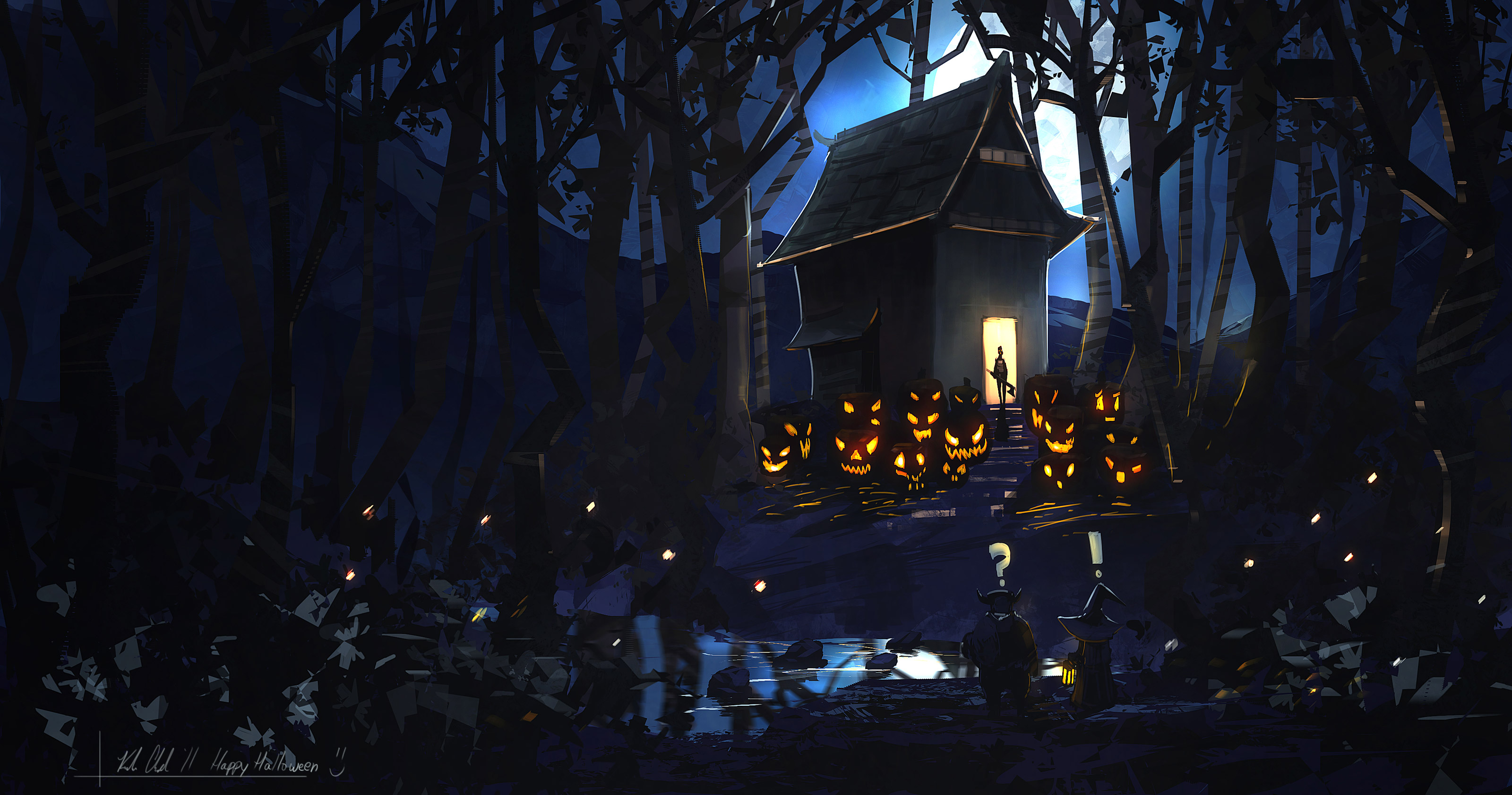 Scary Halloween Backgrounds Wallpaper Collection 2014 3200x1685
