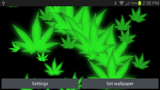 3D Weed HD Live Wallpaper App For Android 512x288