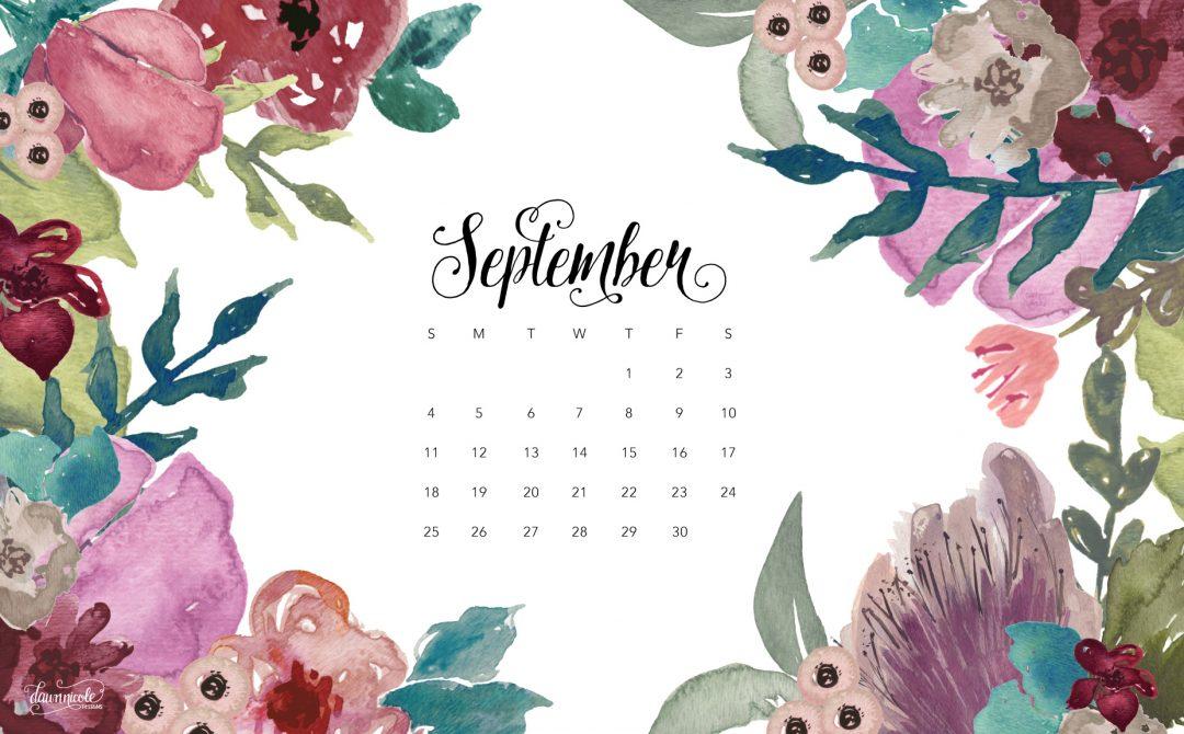 September 2016 Calendar Tech Pretties Dawn Nicole Designs 1080x670