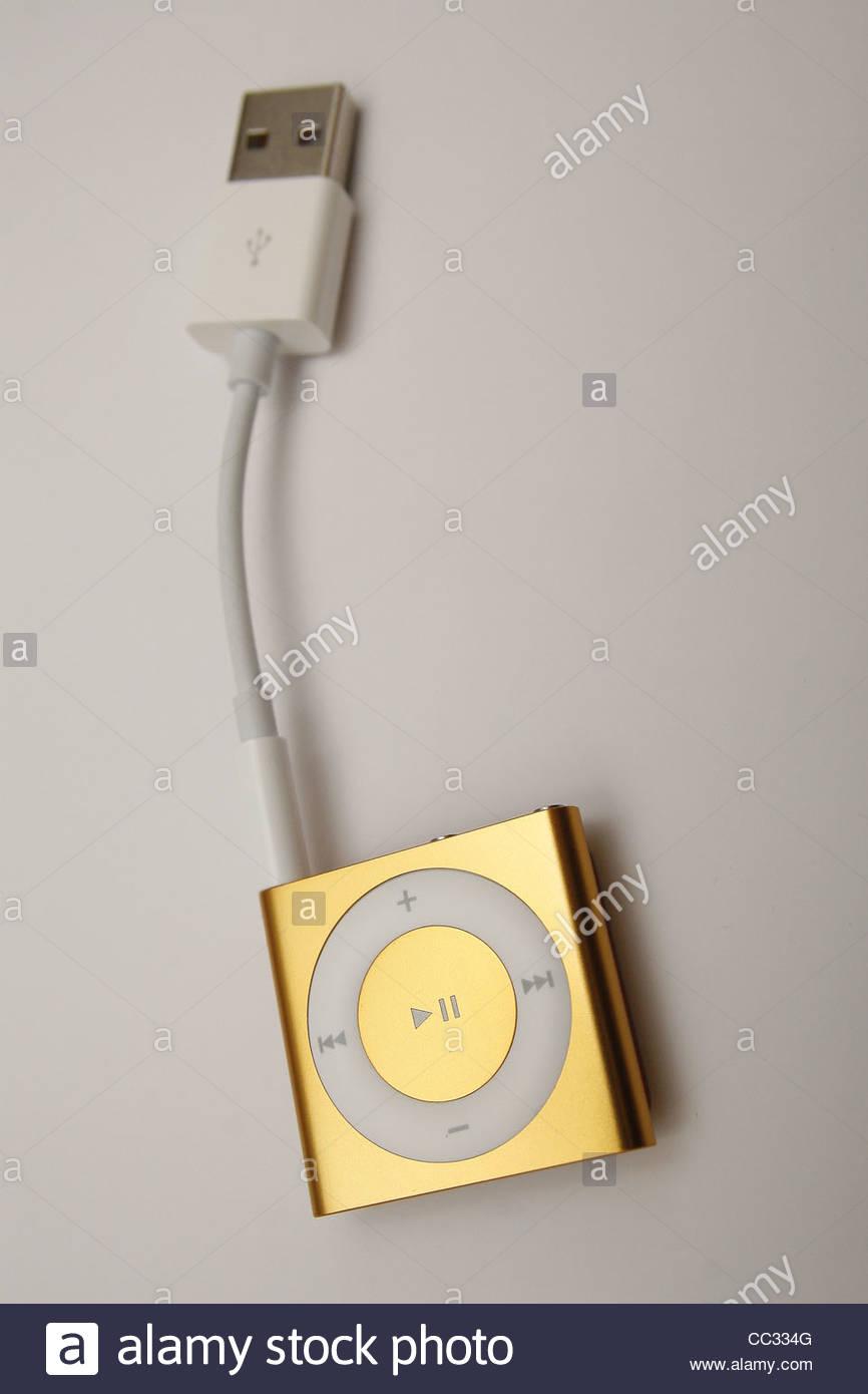 image of ipod shuffle against plain background Stock Photo 866x1390