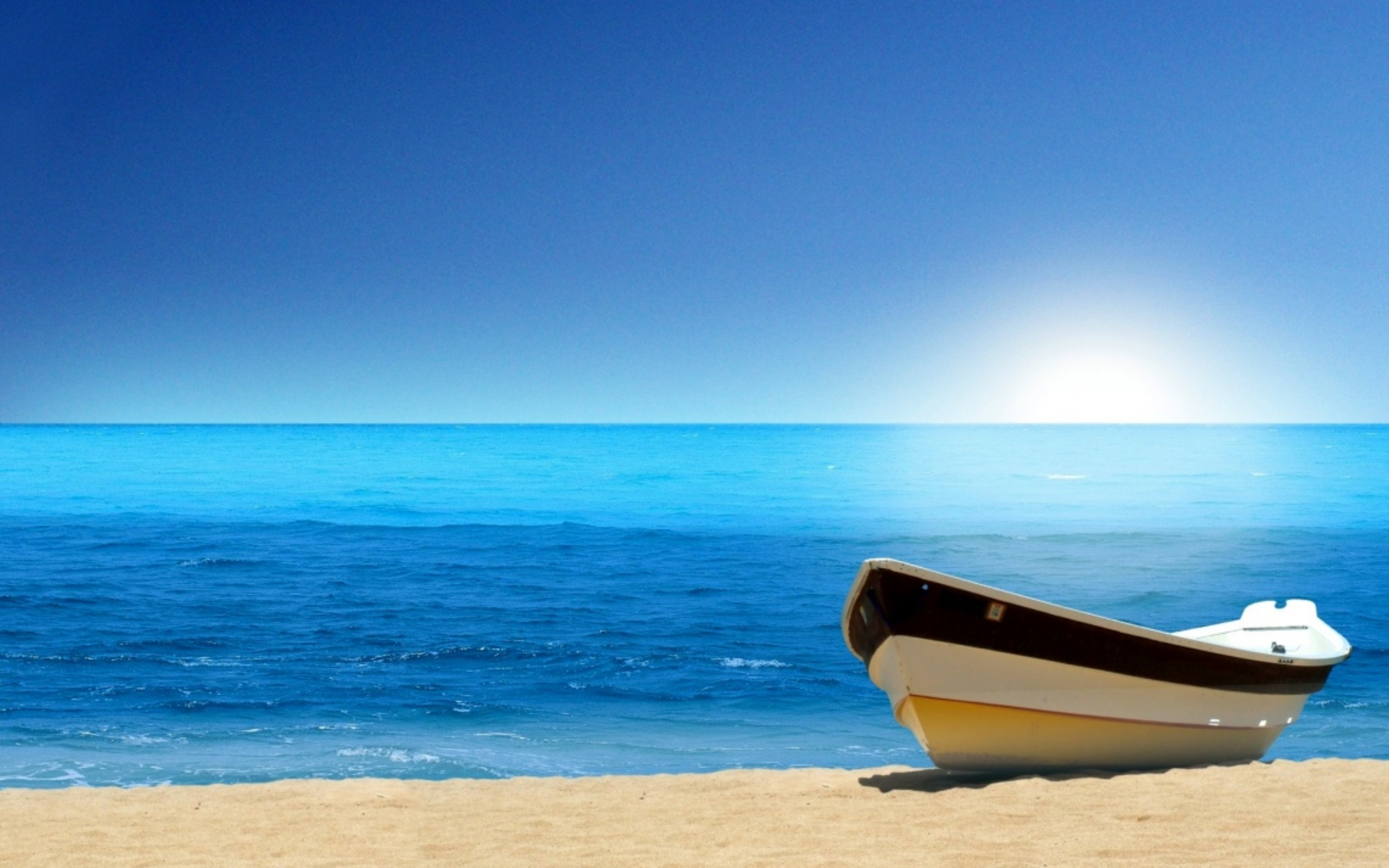 Boat Ocean Wallpapers HD 2560x1600