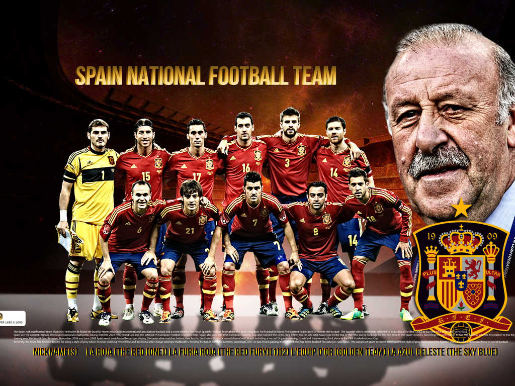 Wallpaper Spain National Football Team 2012 1024x768