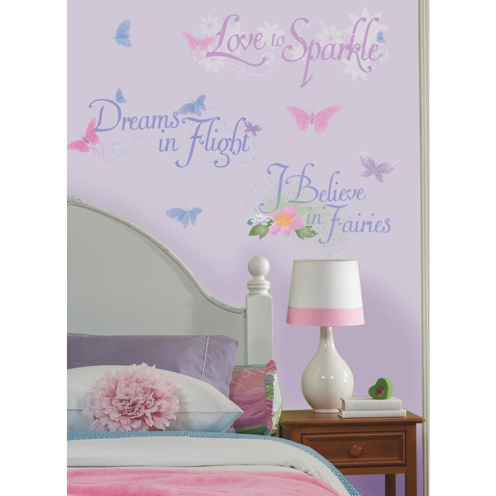 Disney Fairies Phrases Peel And Stick Wall Decal 1000x1000