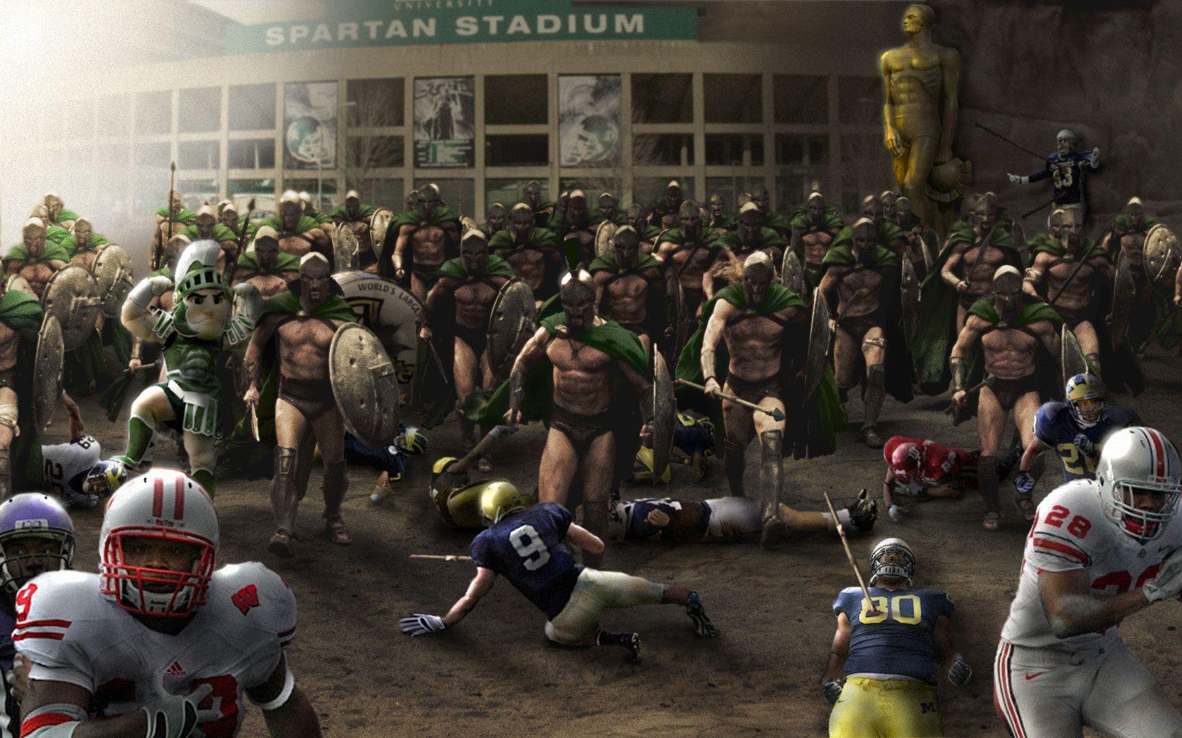 Spartan American Football Big Ten NCAA Michigan State Spartans 1680x1050