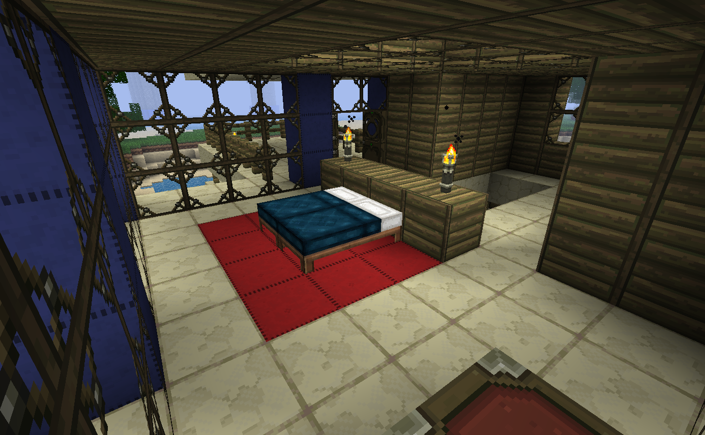 Sunset Point Bedroom by kyidyl minecraft 1386x856