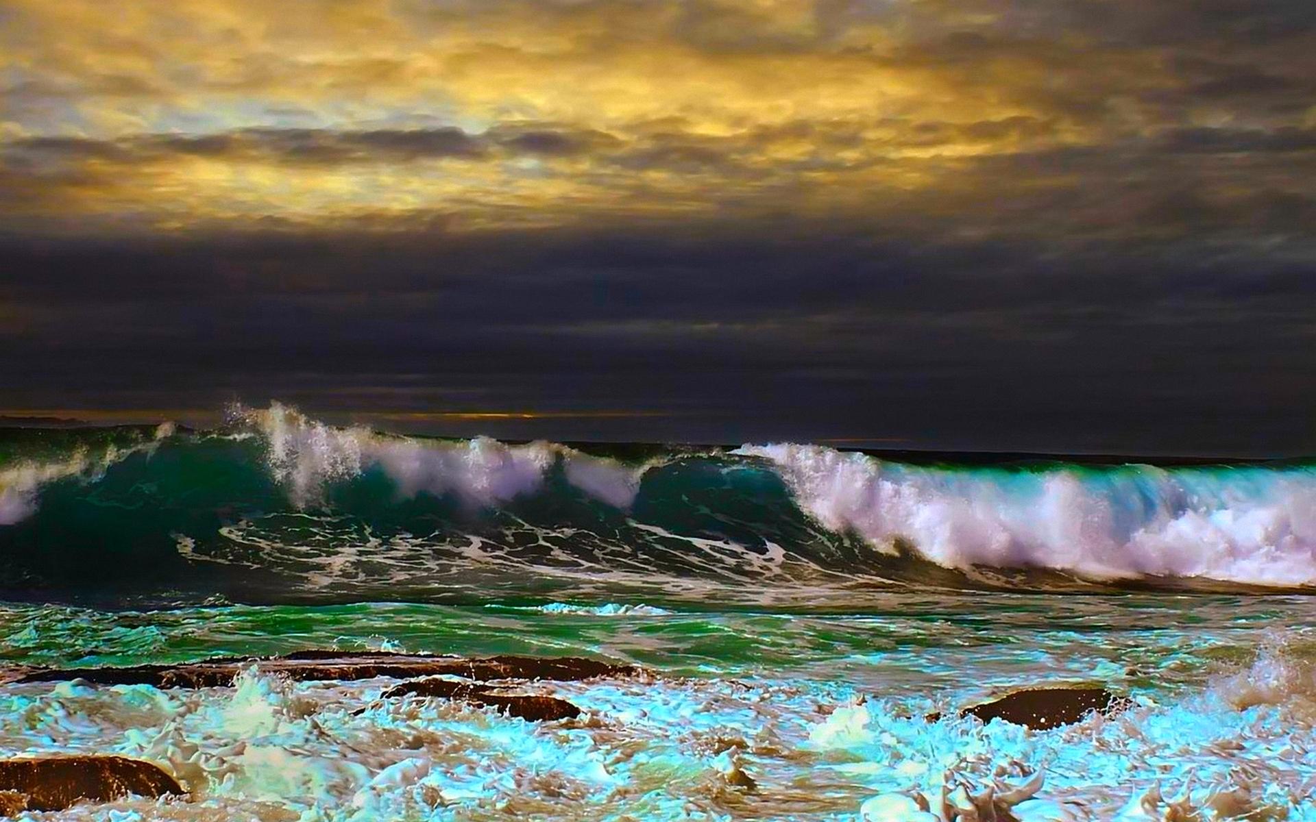 Ocean Storm Waves Wallpaper Dark Ocean Storm Waves hd 1920x1200