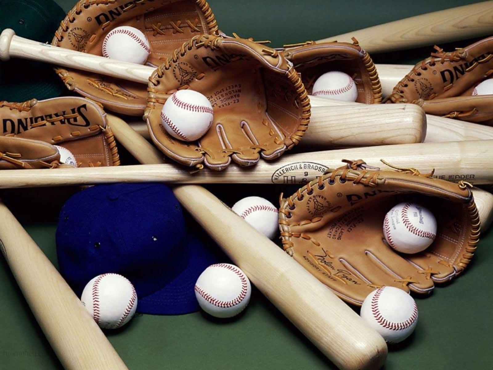 The best top desktop baseball wallpapers 17 many baseball bats and 1600x1200