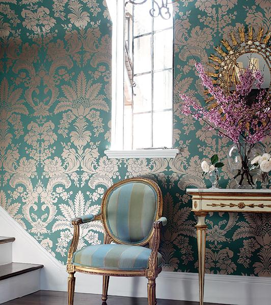 Metallic Wallpaper   French   entrancefoyer   Thibaut Design 532x600