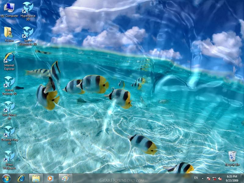 Animated Wallpaper Watery Desktop 3D Download   WateryDesktop3D setup 800x600