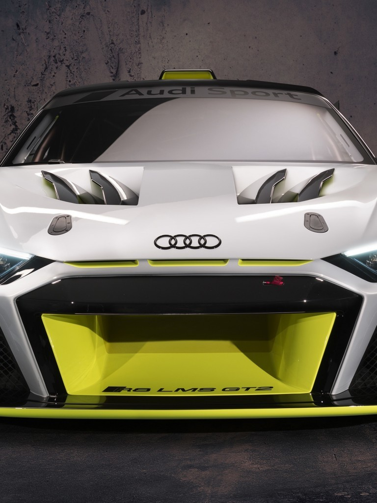 Download 768x1024 Audi R8 Lms Gt2 Racing Cars Front View 768x1024