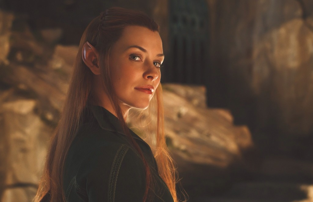 Evangeline Lilly as Tauriel in Hobbit HD Desktop Wallpapers 1024x663