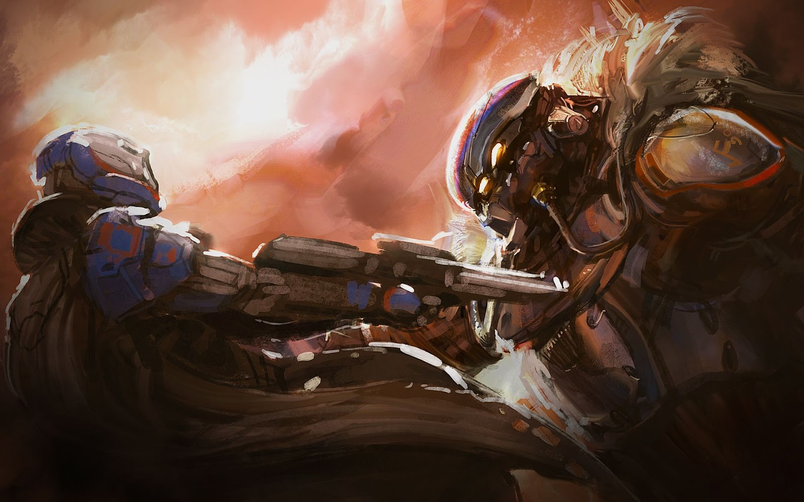 Found at DBO this is some awesome fan art of Destiny by TDSpiral I 1600x1000