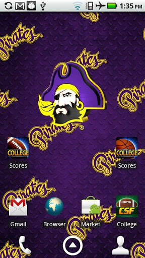 east carolina pirates live wallpaper with animated 3d logo background 288x512