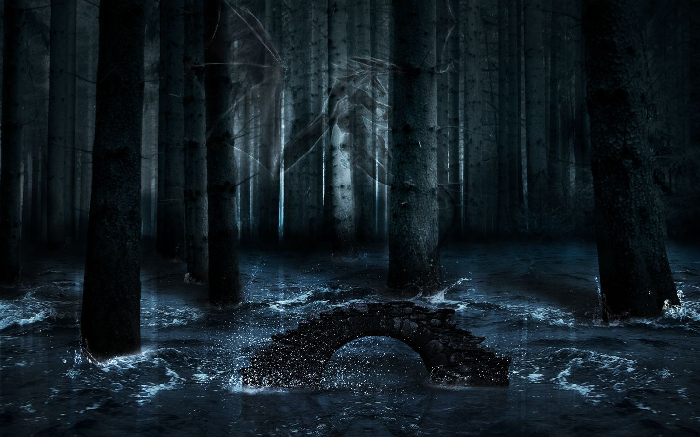29 Dark Forest With Moon Wallpapers On Wallpapersafari Dark forest background available in hd, 4k resolutions for desktop and smart devices. 29 dark forest with moon wallpapers