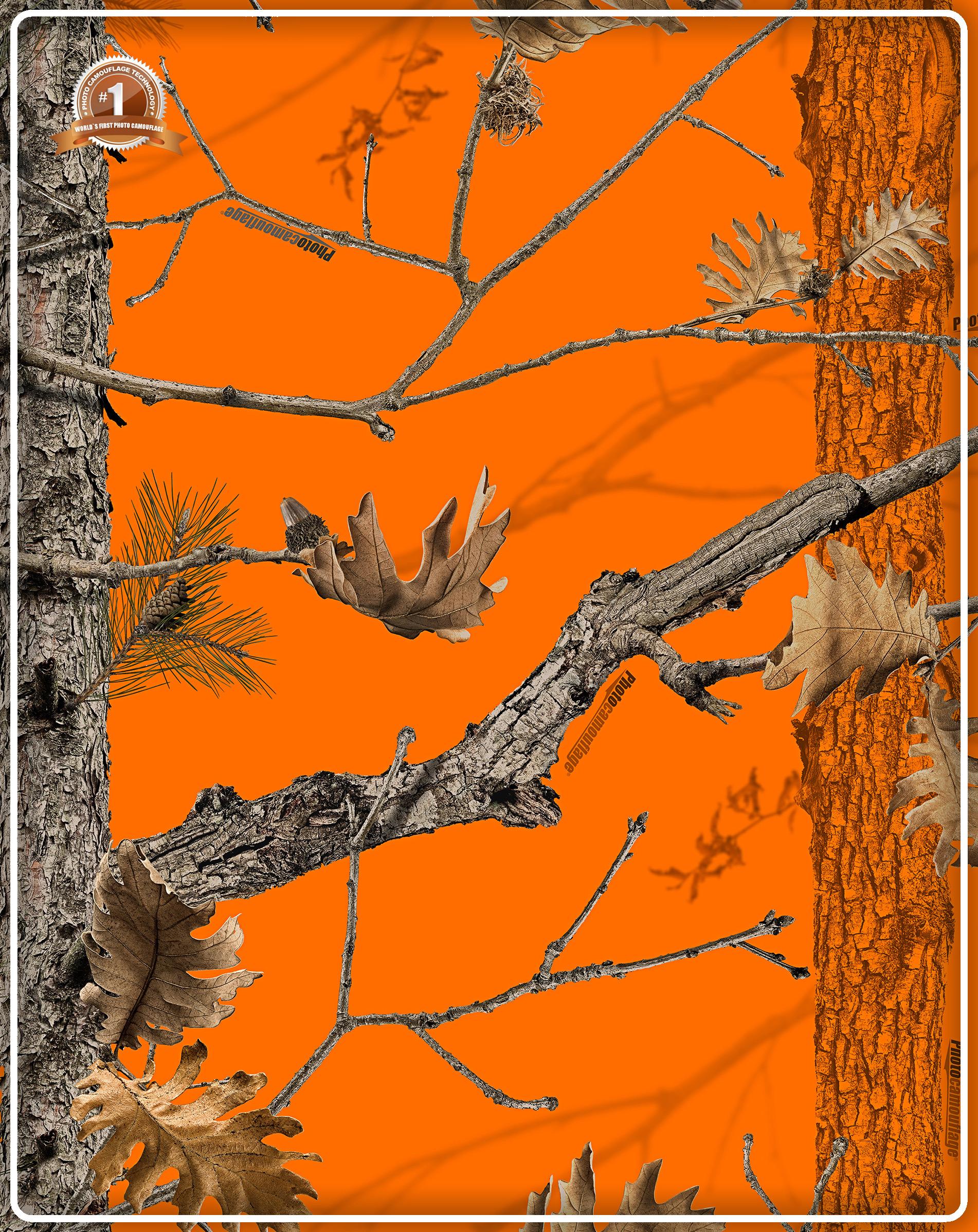 Orange realtree camo wallpaper