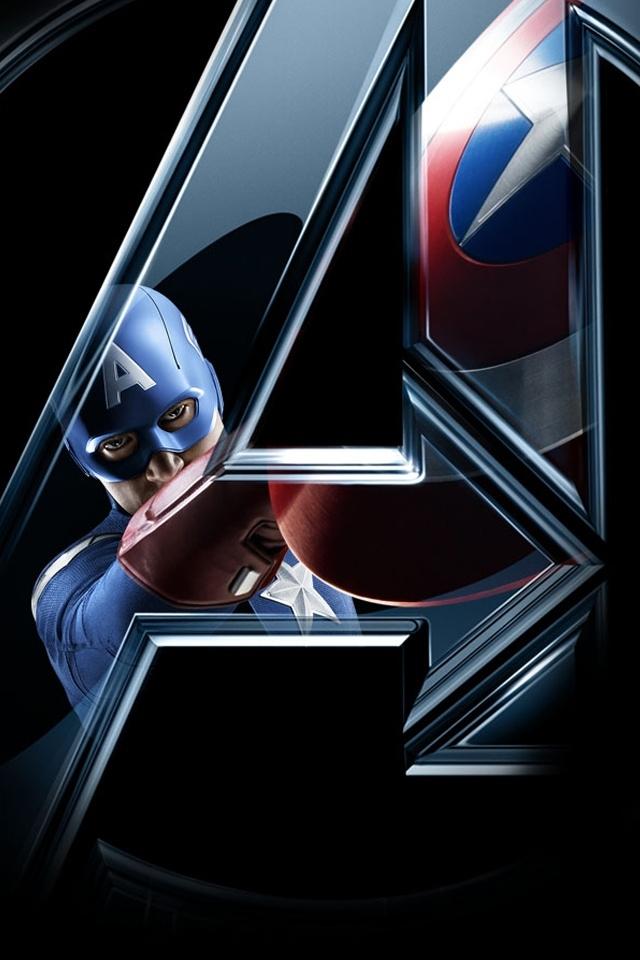 Wallpaper iPhone HD Movie Avengers Logo Wallpaper Iphone 640x960