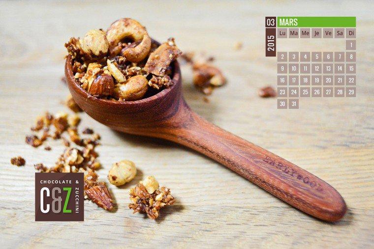 March 2015 Desktop Calendar Chocolate Zucchini 760x507