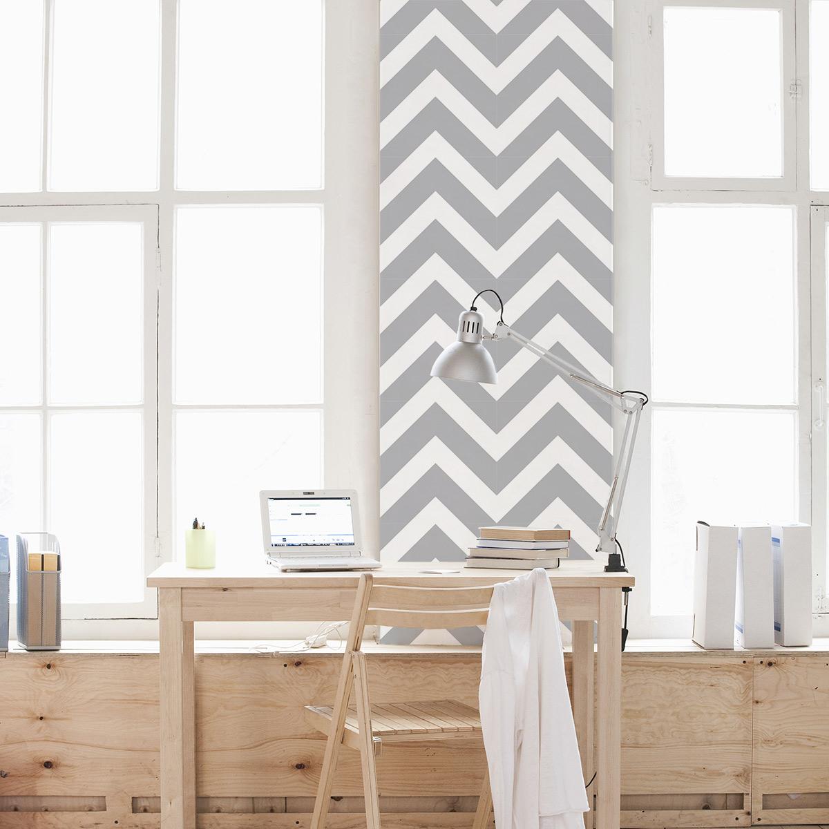Chevron Stripes Removable Wallpaper Tile 1200x1200