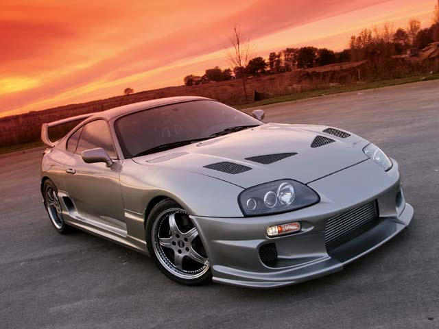 Animated Toyota Supra Wallpaper Image Photo Red Blue black 640x480