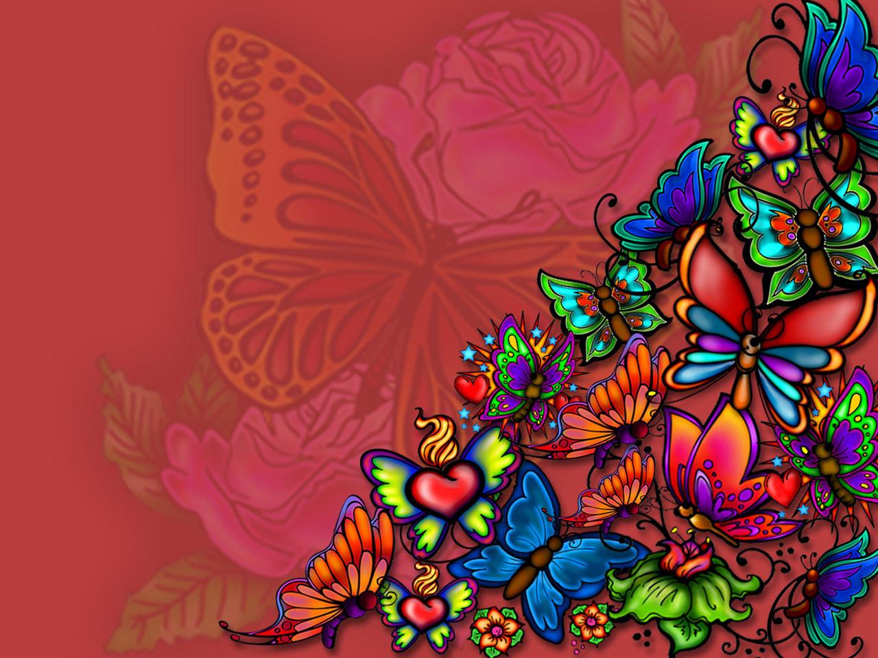 butterflies tattoo HD wallpaper and background photos 18409603 1280x960