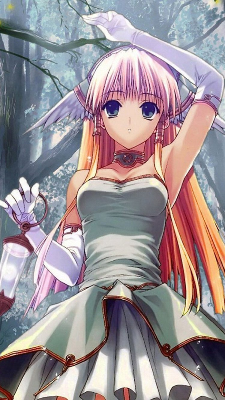 anime girl iphone wallpaper wallpapersafari