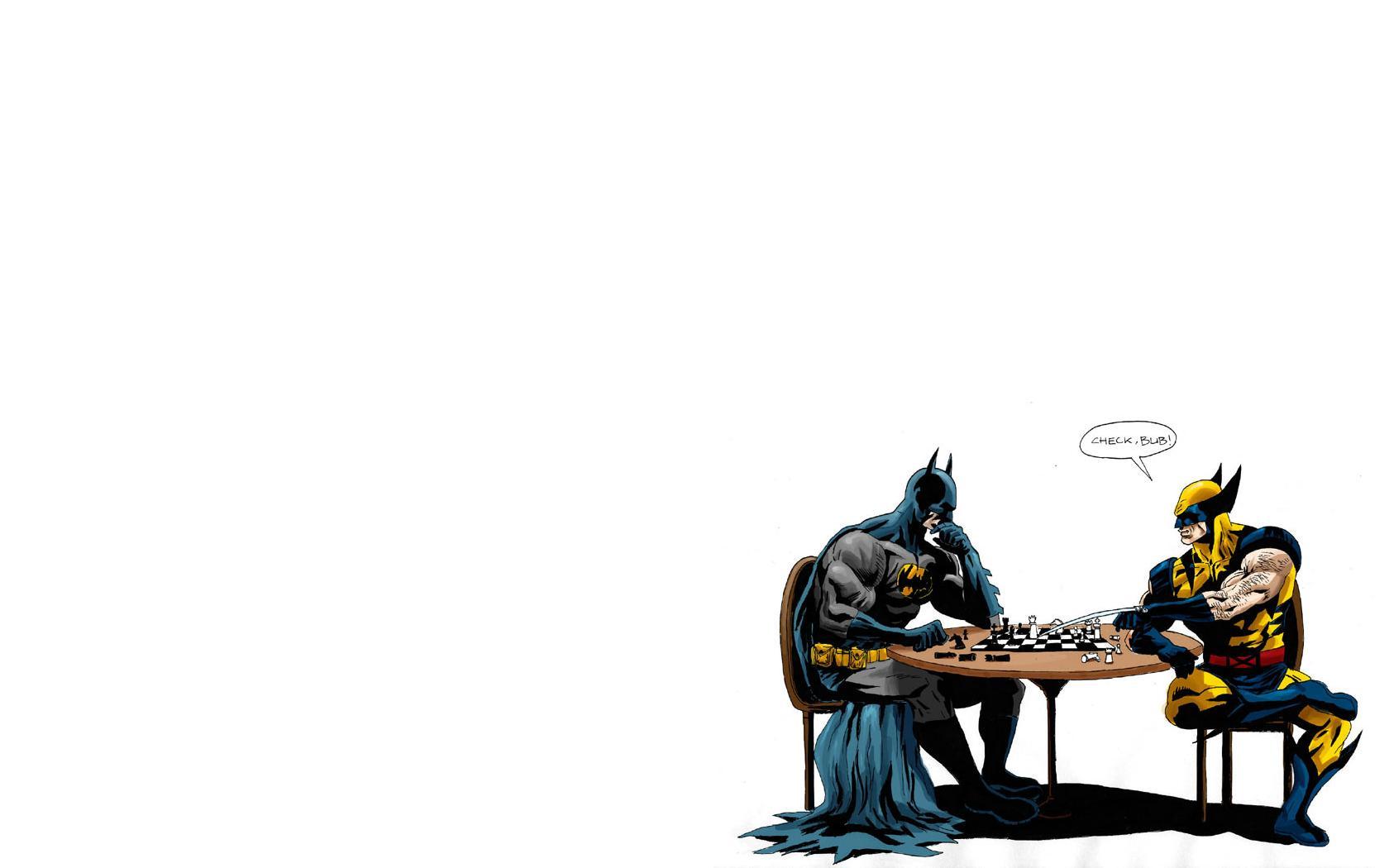 Batman Chess HD Wallpapers Wolverine Batman Chess Desktop Wallpapers 1680x1050