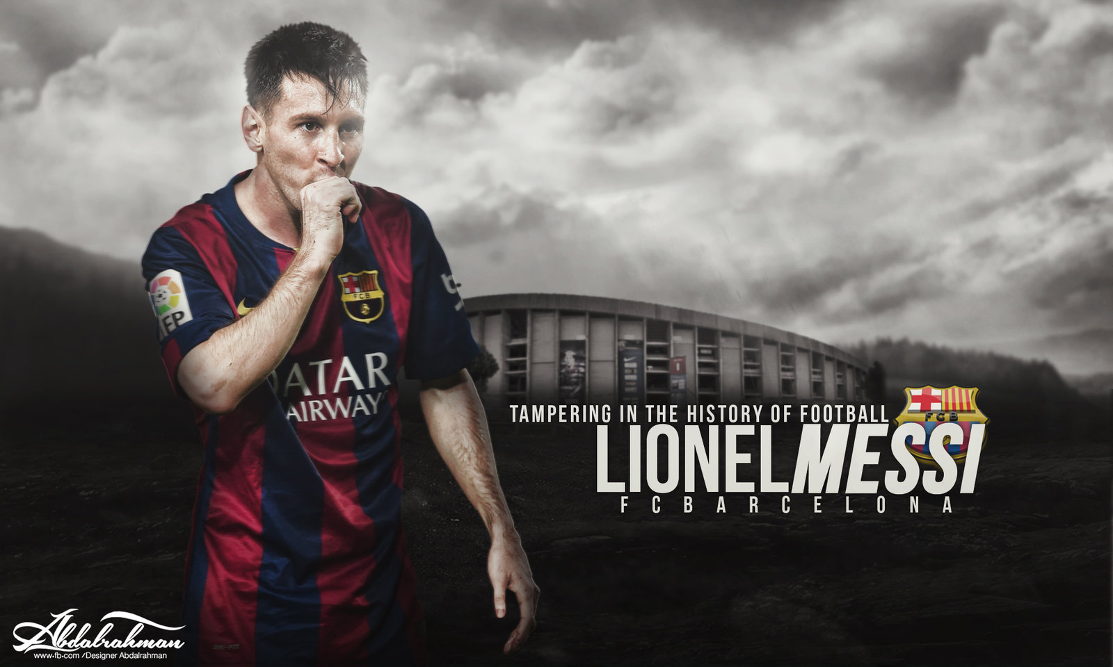 wallpaper lionel messi 2014-2015 by Designer-Abdalrahman on DeviantArt