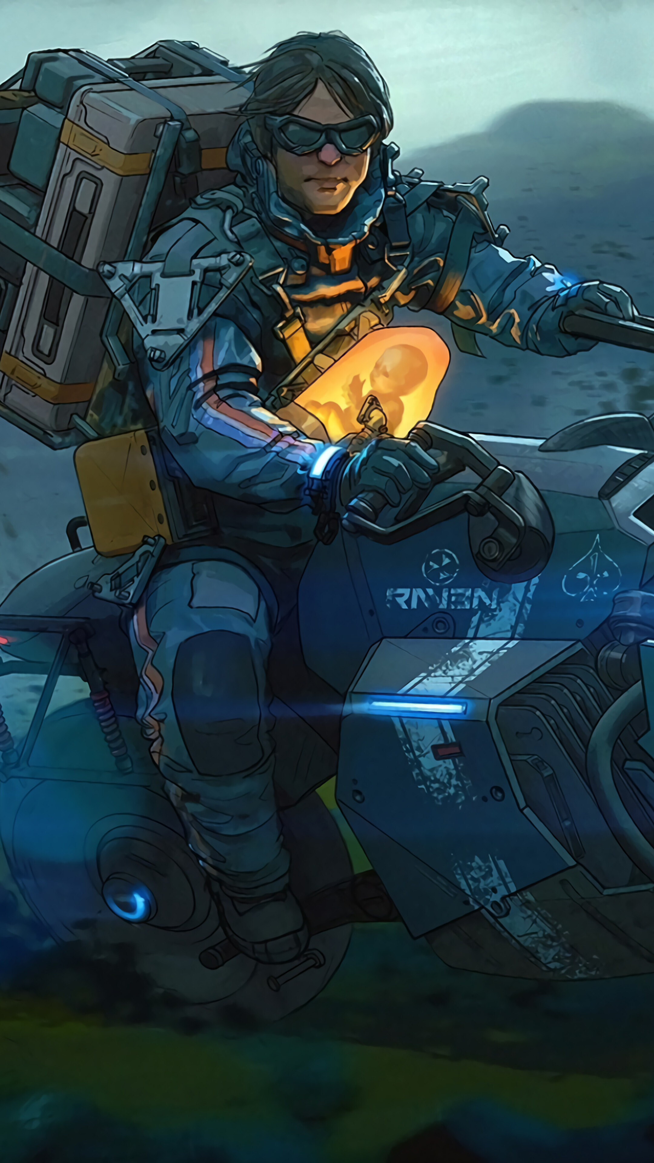 Death Stranding Motorcycle Days Gone 4K Wallpaper 51369 2160x3840