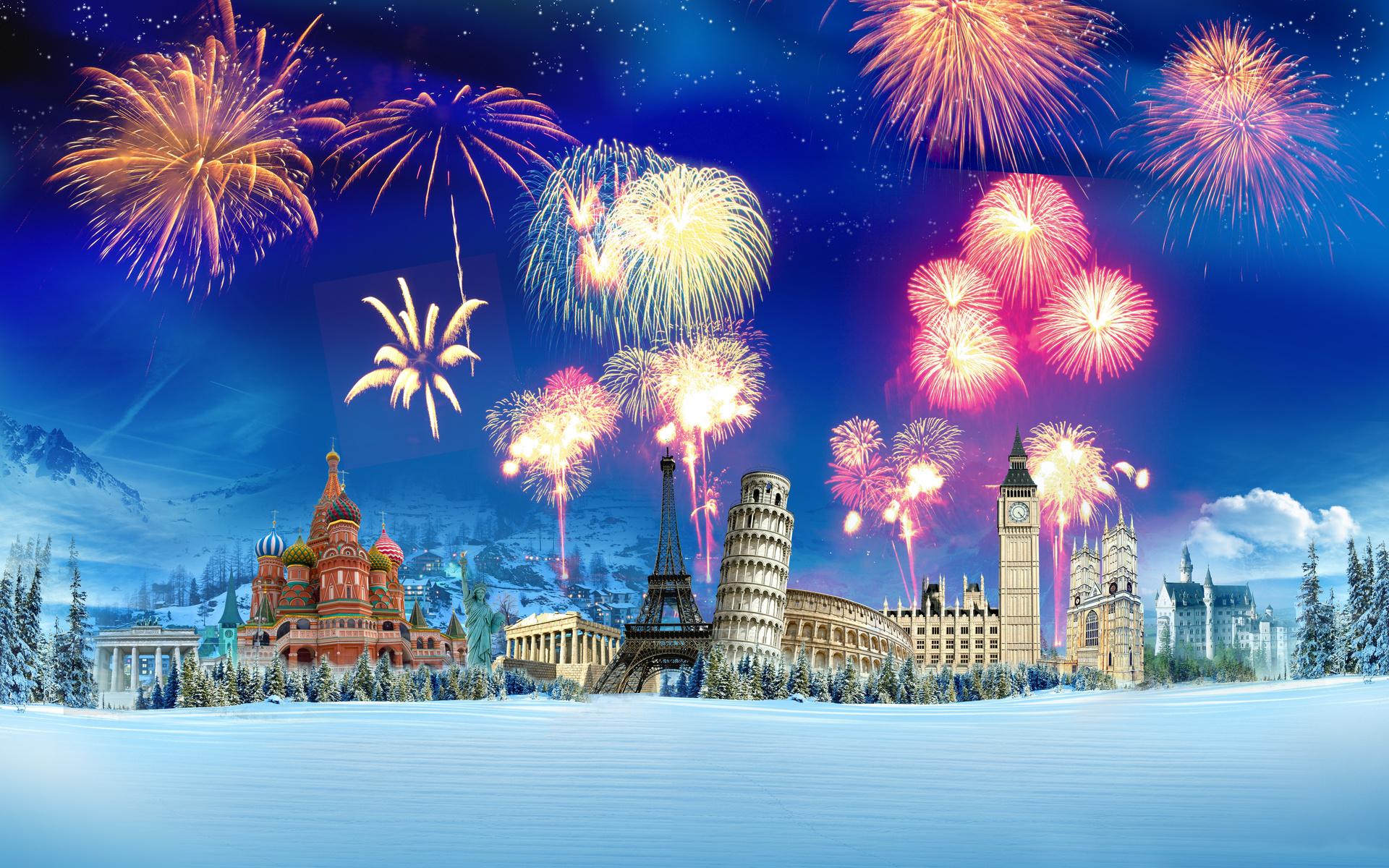 New year around the world by tanjakrstevska   Desktop Wallpaper 1920x1200