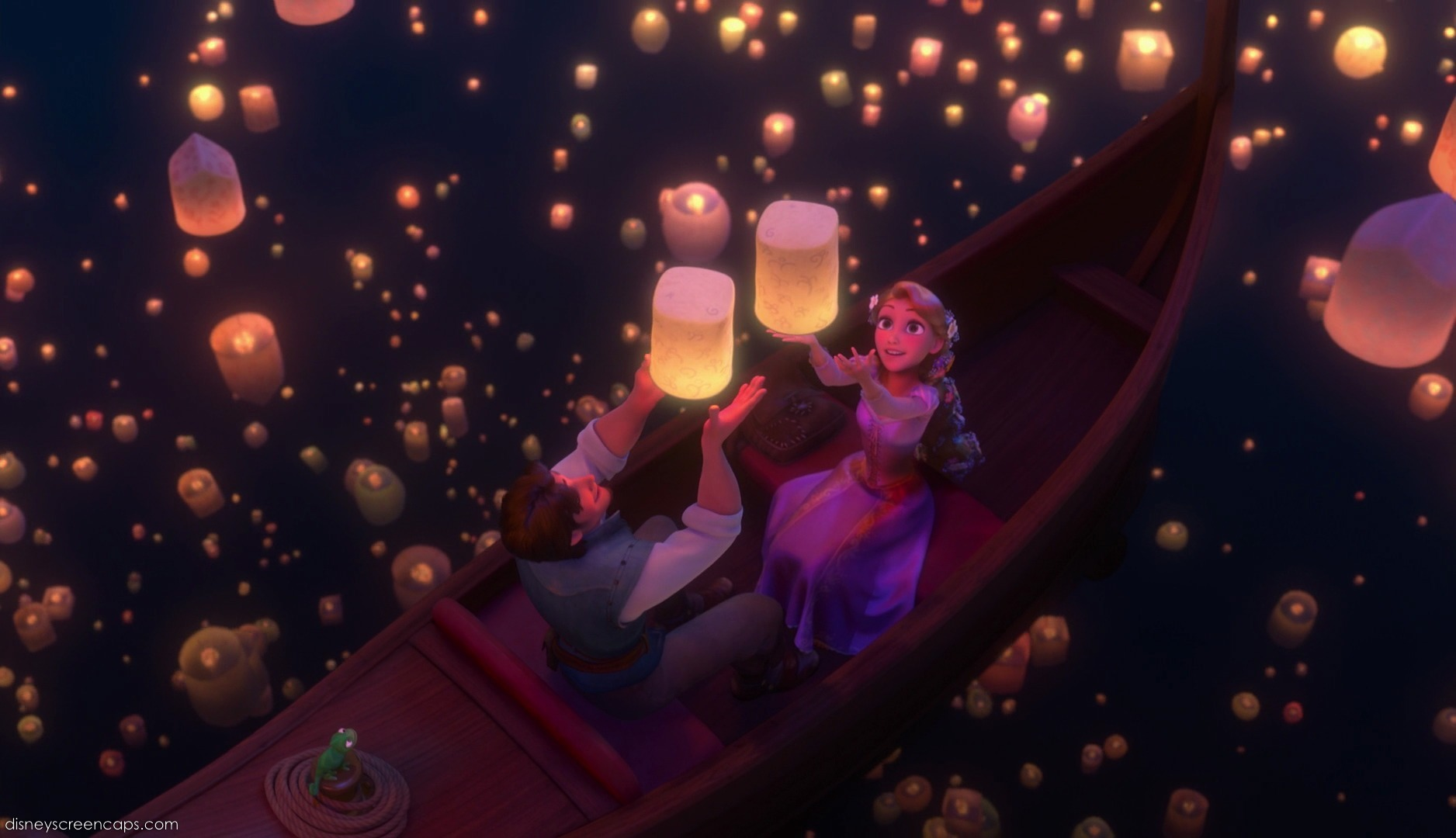 Tangled Wallpaper Lantern 1876x1080