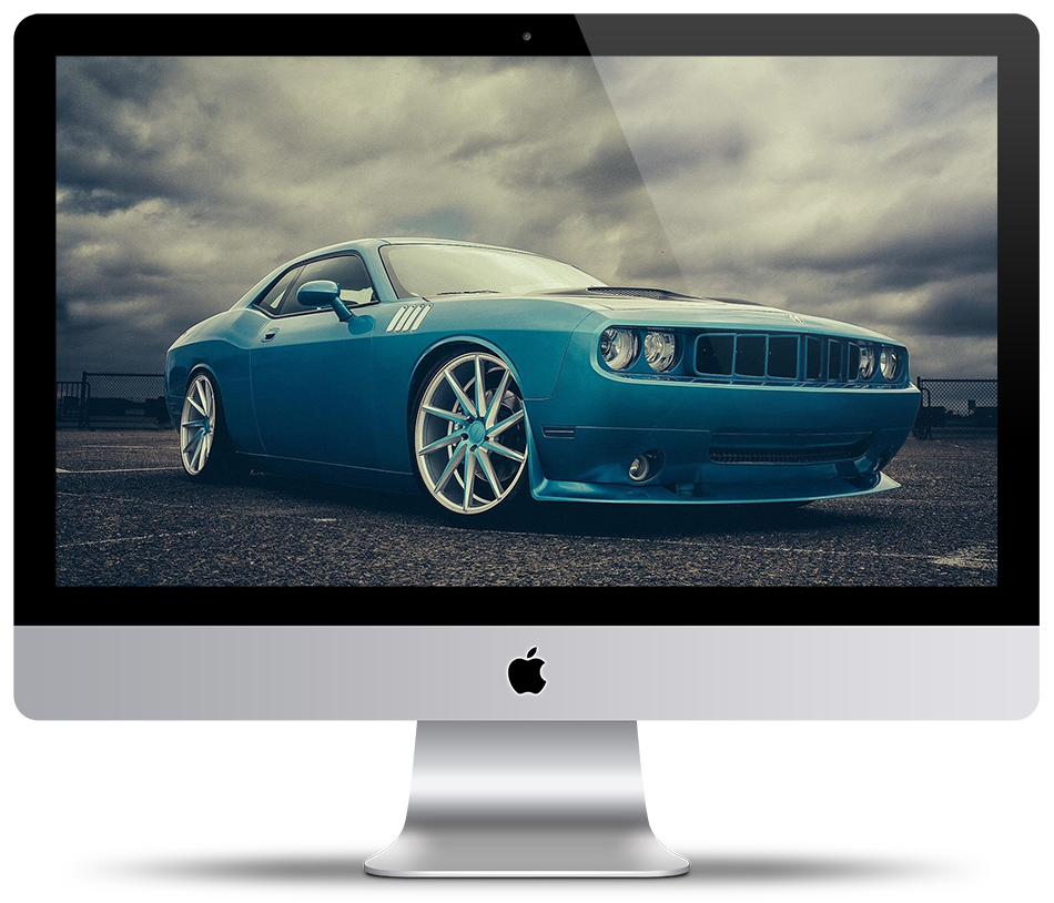 Wallpaper Dodge Challenger Blue by HazZbroGaminG 950x814