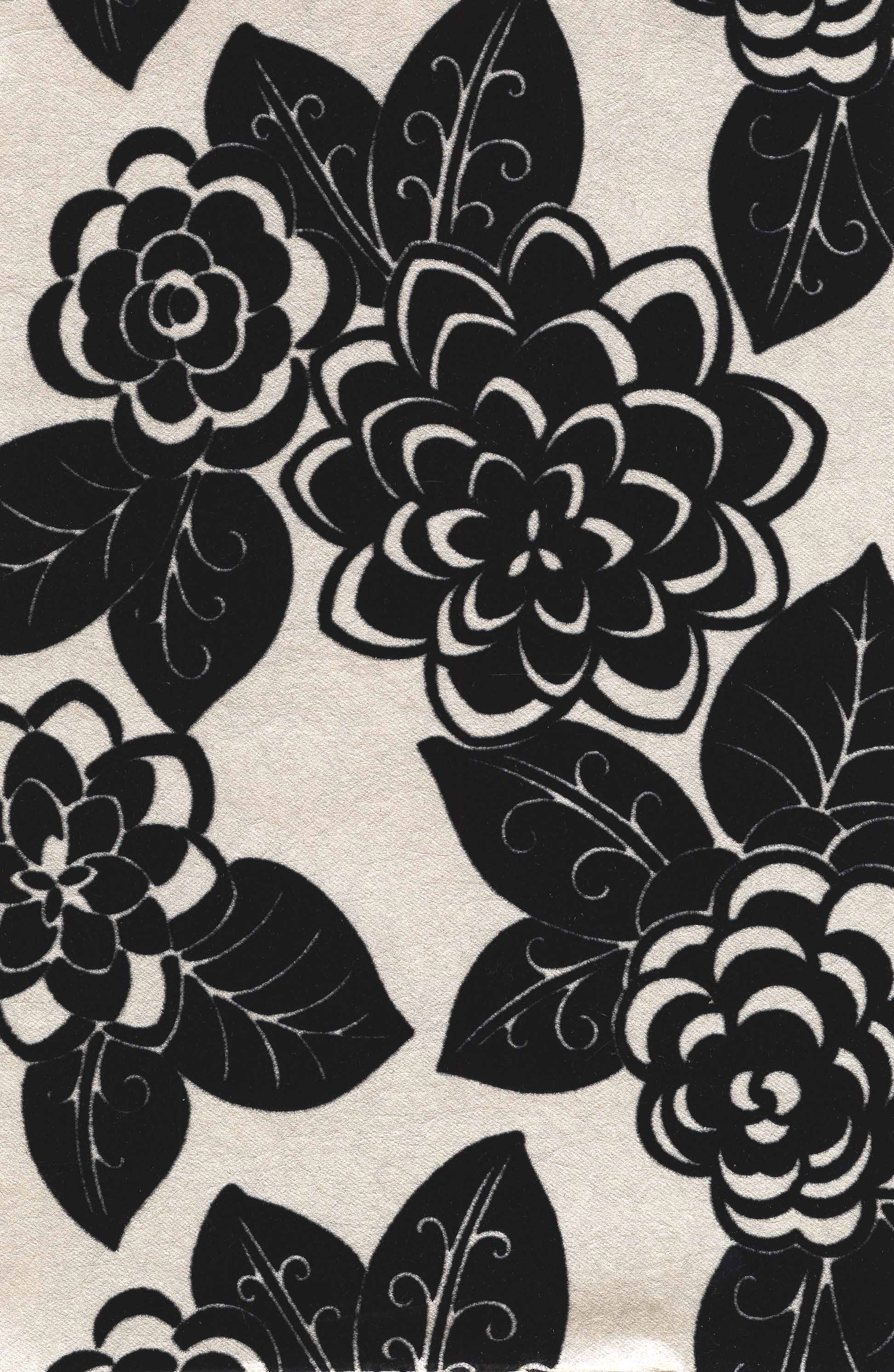 FLOCKED FLORAL [YEW 97208] Designer Wallcoverings 1944x2981