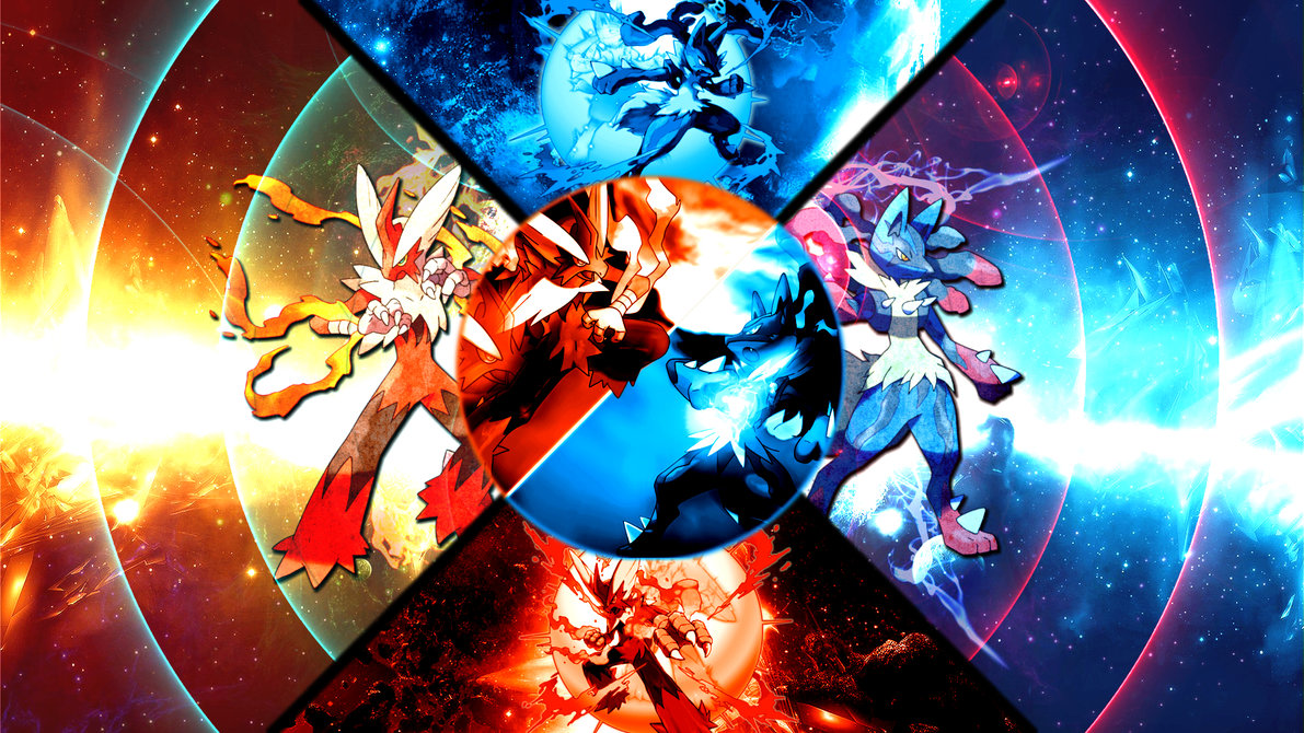 Mega Blaziken VS Lucario Wallpaper By FRUITYNITE 1191x670