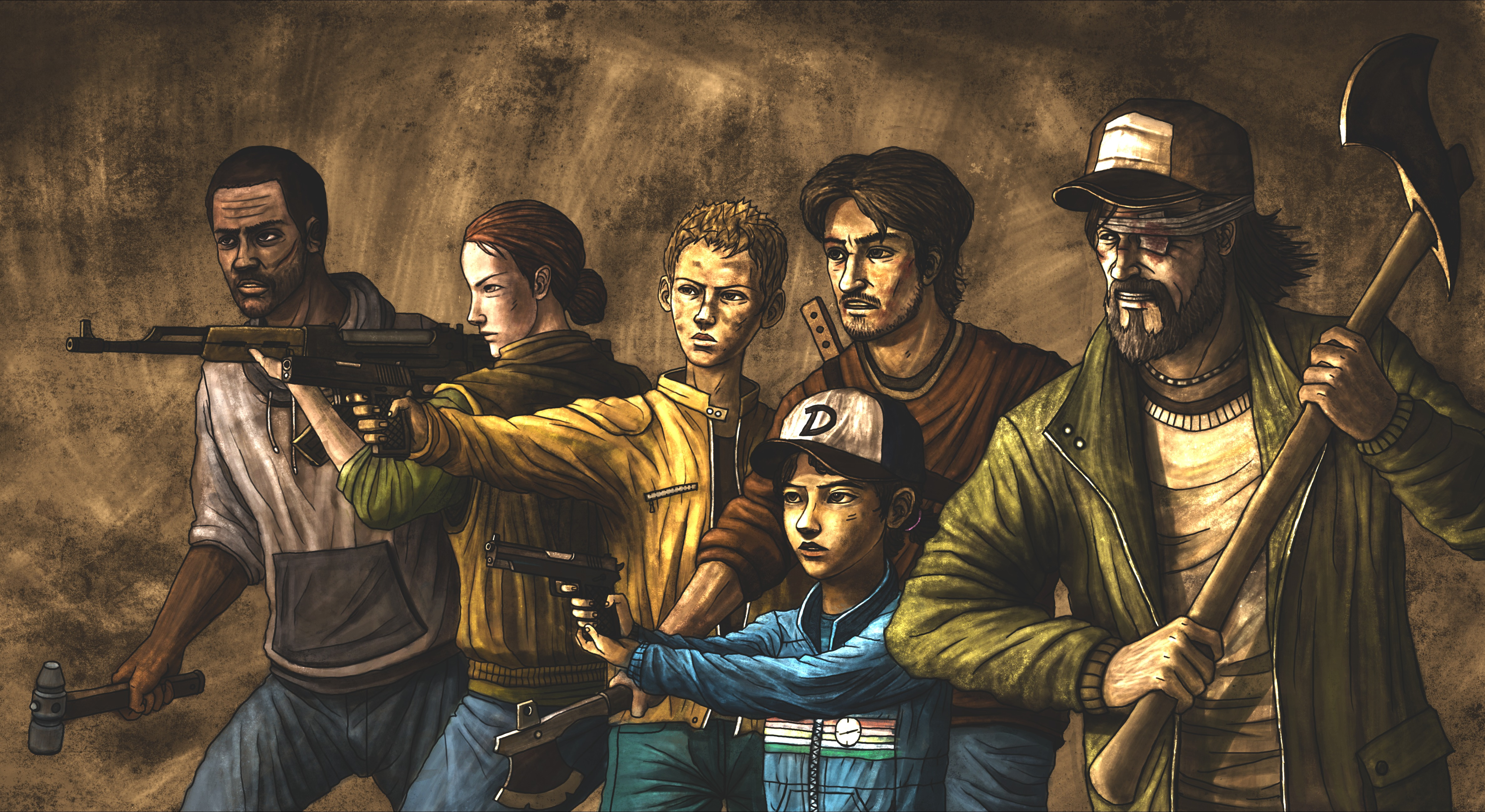 58 Clementine The Walking Dead HD Wallpapers Background Images 4744x2596