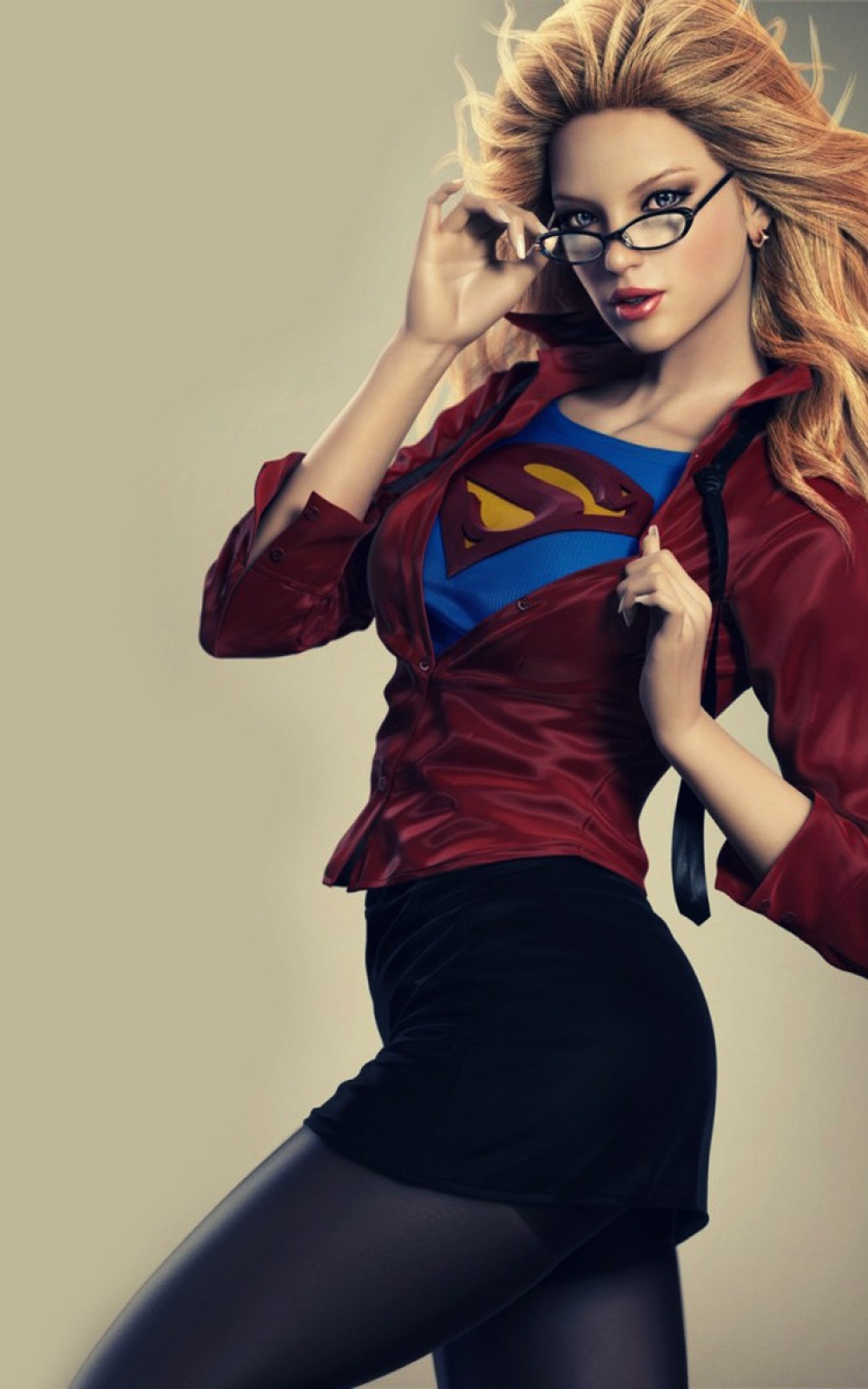 Superwoman Blonde Android Wallpaper 1000x1600