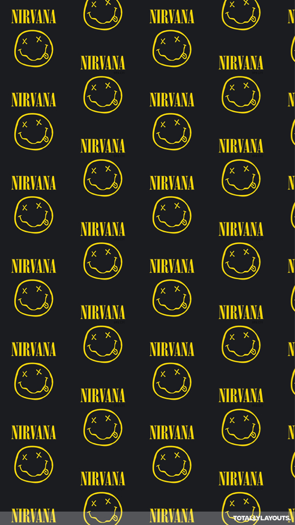 dave grohl grunge kurt cobain logo nirvana smiley face wallpaper 577x1024