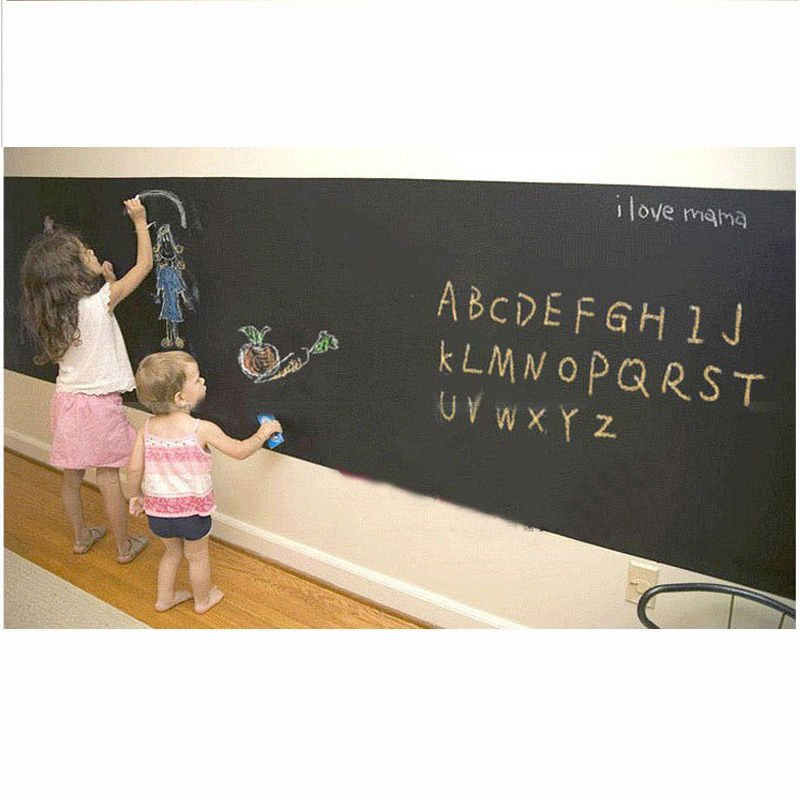 Chalkboard Contact Paper Roll Removable Wallpaper Nursery Baby Wall 800x800