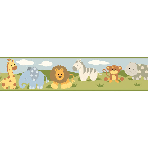 Borders by Chesapeake Simba Jungle Safari Cartoons Animal Wallpaper 500x500