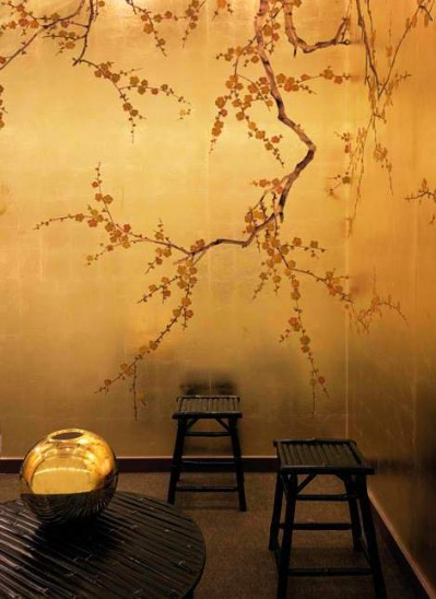 CHINESE NEW YEAR hand painted asian inspired designer wallpaper 399x548