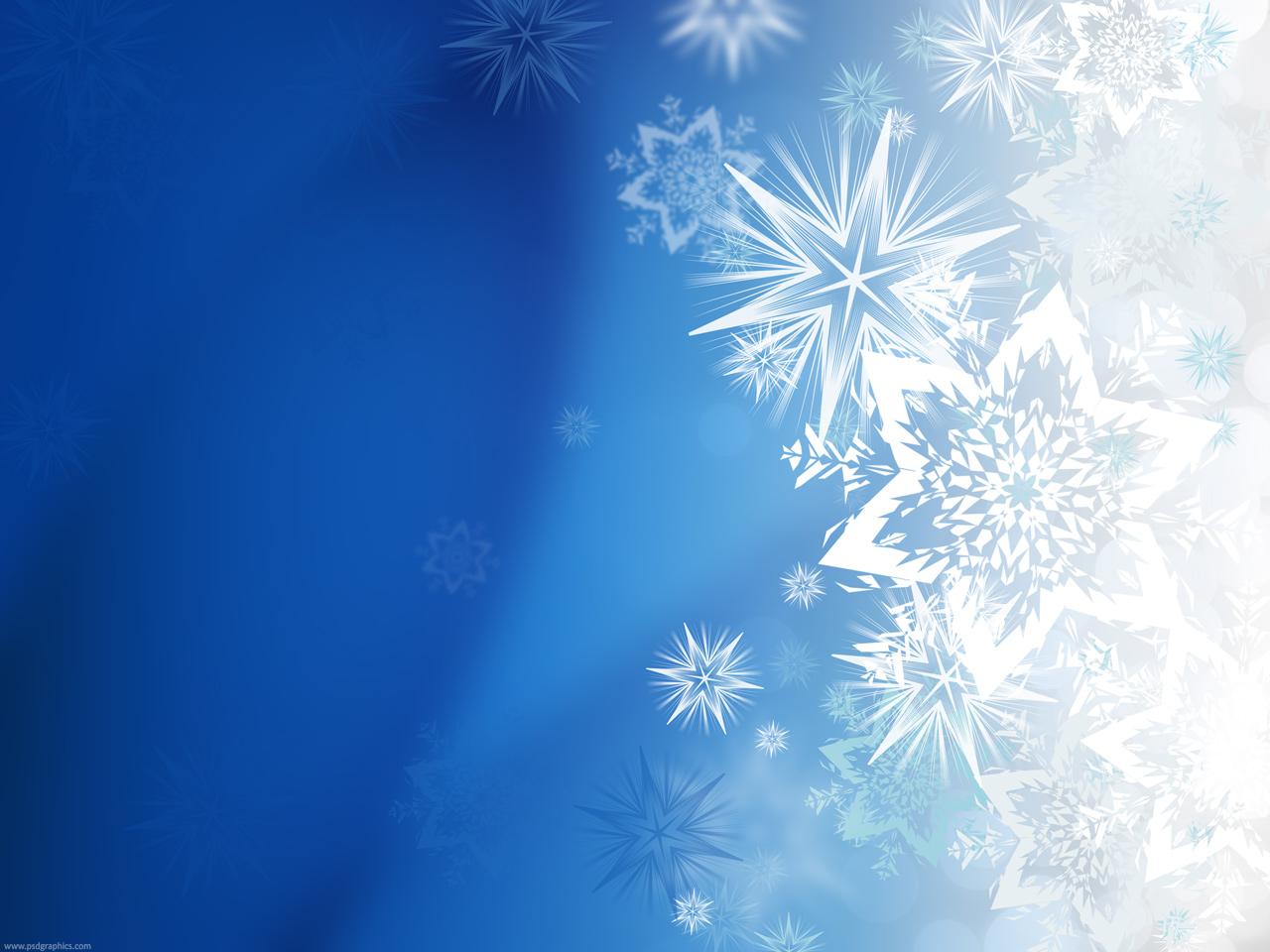 Magic winter snowflakes PSDGraphics 1280x960