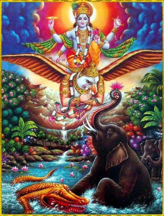 Gajendra Moksha Hindu god B in 2019 Lord vishnu Lord krishna 676x888
