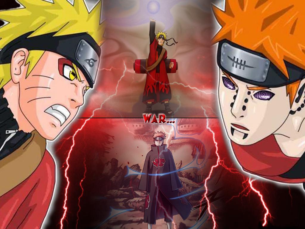 Naruto VS Pain Akatsuki   Manga Wallpaper   Wallpapers Movies and 1024x768
