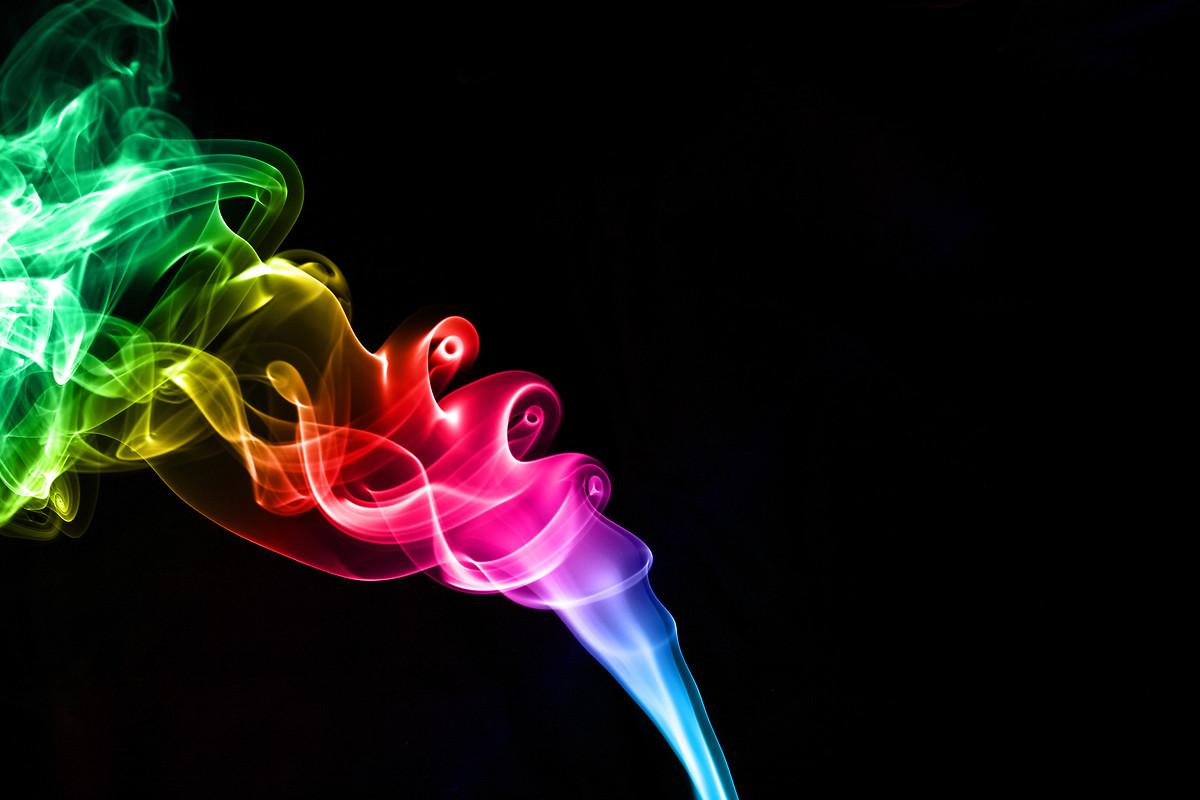 Colorful Smoke Backgro...