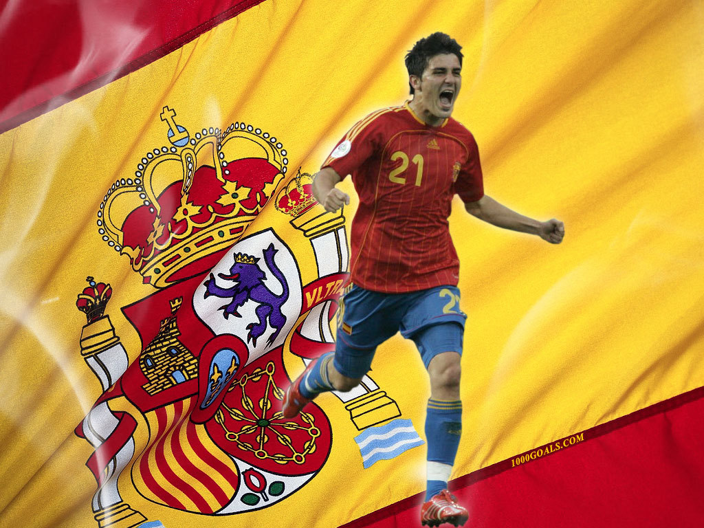 David Villa Spanish National Team   David Villa Wallpaper 1024x768