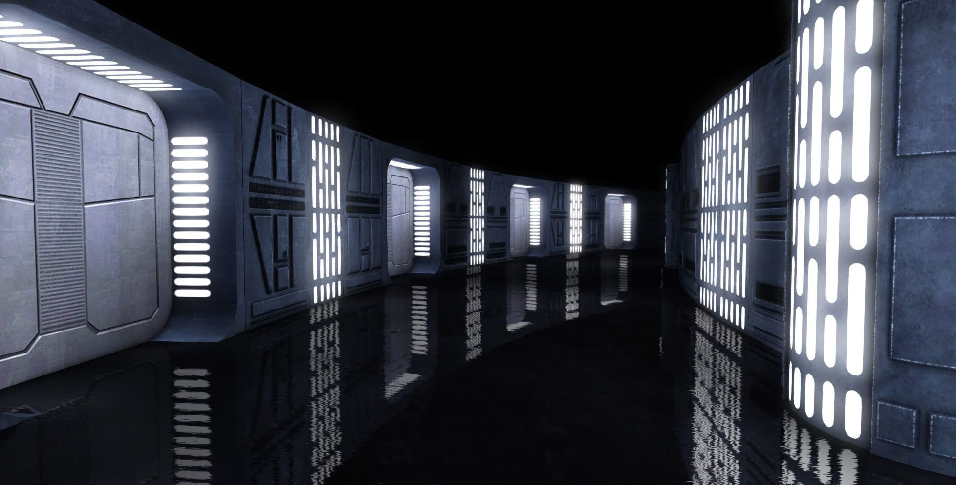 Image result for star wars space station interior 1956x992